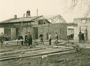 Abbruch des alten Bootshauses
