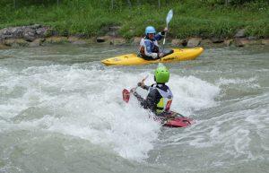 Wildwasserfahren in Hüningen