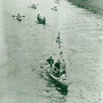 Anpaddeln auf der Murg in den 50ern