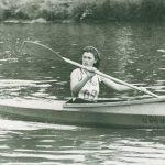Paddlerin bei der Murgregatta 1951